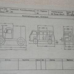 Auszug aus dem Entwicklungsauftrag (EA) 389 für den T3. Originale von 1974.