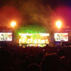 Metallica auf der Centerstage.