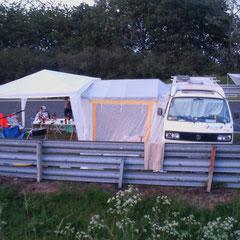 Unser muckeliges Nordschleifen-Heim für die nächsten paar Tage.