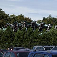 """Blick vom Parkplatz: """"Air"""" läuft, also nix wie hin!"""