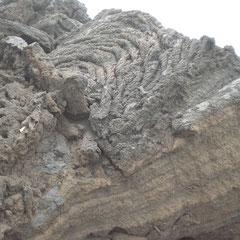 Im Lavafeld des letzten Ausbruchs.