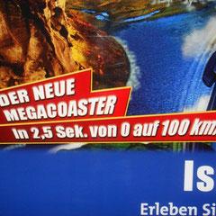 """... Der neue Megacoaster """"Blue Fire"""""""