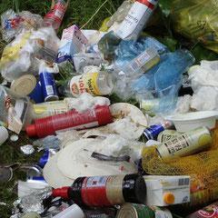 Tja, die Müllsäcke waren schon voll...!