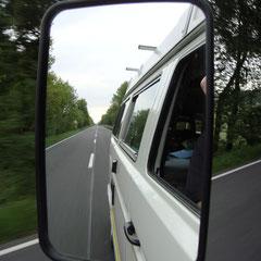 Mittwoch 2. Juni 2010, kurz nach 19h: Endlich auf dem Weg Richtung Nürburgring...