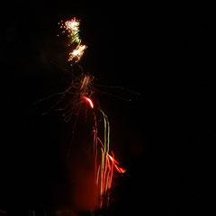 Abschluss-Feuerwerk auf'm Campingplatz