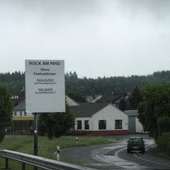 Anfahrt zum Nürburgring