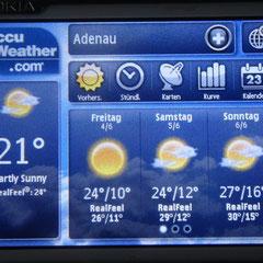 Fr. 4. Juni 2010: Gute Wetteraussichten für die nächsten 3 Tage!