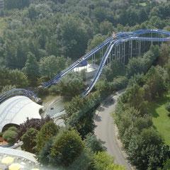 Der Park vom Aussichtsturm aus gesehen