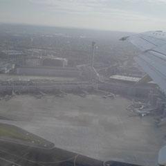 Düsseldorf International von oben.