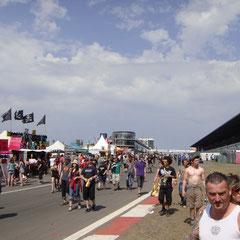 Freitag Nachmittag auf'm Festivalgelände...