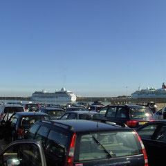 Angekommen im Hafen von Dover...