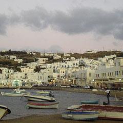 Fischerhafen von Mykonos.