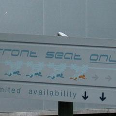 Hier erwiesen sich die Sitze in der ersten Reihe als echter Geheimtipp...