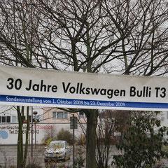 Banner für die T3 - 30 Jahre - Sonderausstellung