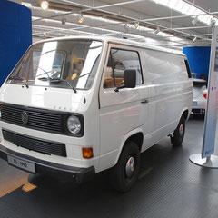 """T3-Basis-Sondermodell """"K800"""" aus dem Jahr 1992. 4 Zylinder Reihendiesel mit 1,8l Hubraum und 57PS. Abgespeckte Version des Kastenwagens mit einer Nutzlast von nur 800kg."""