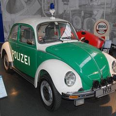 Polizeikäfer aus dem Jahr 1973. 4 Zylinder Boxer mit 1,3l Hubraum und 44PS. Hier: der letzte Polizeikäfer Niedersachsens.