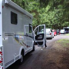 Absoluter Stillstand schon hier ganz oben auf'm Campingplatz?!?
