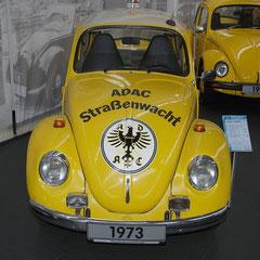 ADAC-Käfer aus dem Jahr 1973. 4 Zylinder Boxer mit 1,3l Hubraum und 44PS. Hier: der letzte ADAC-Starßenwacht-Käfer.