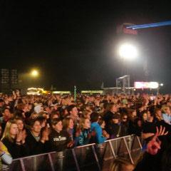 The Killers: Blick nach hinten in die Menge