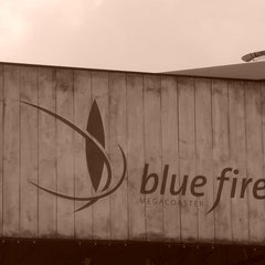 Blue Fire im Retro-Stil