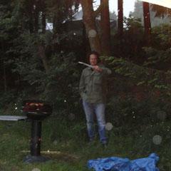 Am späten Nachmittag dann mal kurz aber heftig typisches Eifel-Ring-Wetter.