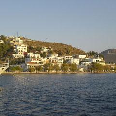 Ankunft im Hafen von Patmos.