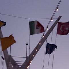 Noch sind wir unter italienischer Flagge unterwegs.