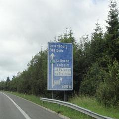Über die belgische E25 mit grobem Ziel Luxemburg...