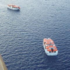Die Boote sind bereit und warten auf uns.