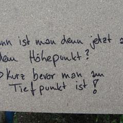Unser Sprüche-Board.