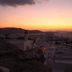 Abendidylle auf Mykonos.