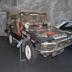 VW Iltis von 1980. 4 Zylinder Reihenmotor mit 1,7l Hubraum und 75PS.