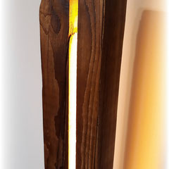 Holzleuchte mit warmweiss LED