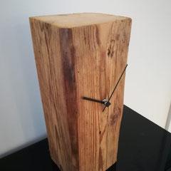 Standuhr Fichte Altholz gebürstet