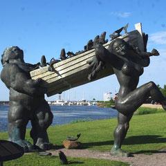 Le géant Toll et sa femme Piret