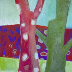 Coline rousse - Huile sur toile - 100x80 cm (VEG15)