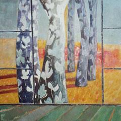 Vue sur les arbres - Huile sur papier - 100x80 cm - 2001 (VEG06) VENDU