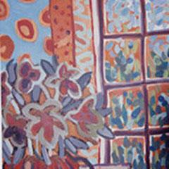 Fenêtre - Acrylique - 130x50 cm - Trois panneaux - 1999 (VEG13)