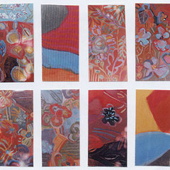 Fleurs - Techniques mixtes - 100x100 cm ou 8 panneaux de 25x50 cm - 1998 (VEG08) VENDU