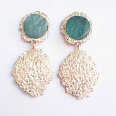 Ohrringe Silber-Aquamarin