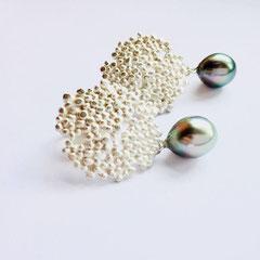 Ohrringe Silber mit Akoya Perlen