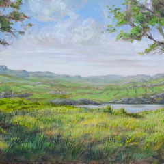 Fantasielandschap met heuvels, o/a/p, 190x51,5cm