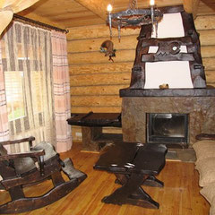 Интерьер под старину - Каминная комната