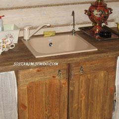 Кухня под старину для бани.
