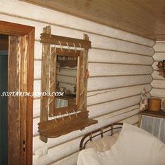 Зеркало под старину на подвесе
