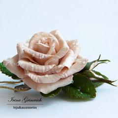 """Зажим для волос """"Роза после грозы"""""""