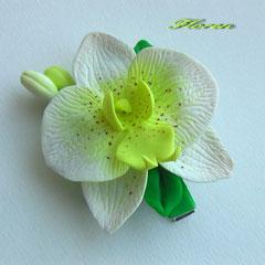 """Зажим """"Желтая орхидея"""""""