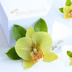 Брошь с орхидеей
