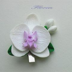 "Заколка- зажим "" Симфония орхидей"""