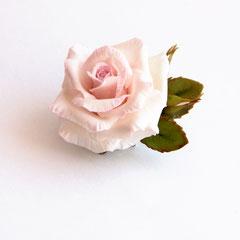 брошь с розой